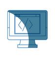 monitor coding programming design graphic hardware vector image vector image