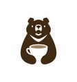 moon black bear vietnam coffee cup drink negative vector image vector image