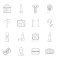 Museum icons outline vector image vector image