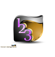 Number concepts business on a white background vector image vector image