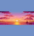 panorama sea sunset or ocean sunrisewater sky vector image