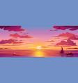 panorama sea sunset or ocean sunrisewater sky vector image vector image