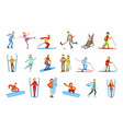 people and winter sports set vector image