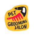 pets grooming salon banner haircut service vector image