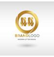 premium aa logo in gold beautiful logotype design