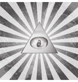 Pyramid Eye vector image