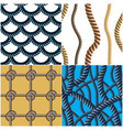 rope seamless patterns set trendy wallpaper vector image