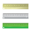 rulers vector image vector image