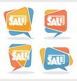 sale bubbles vector image vector image