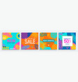 sale summer cards with geometric and tropical mix vector image vector image