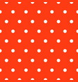 seamless polka dot red and white classic pattern vector image vector image