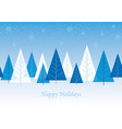 seamless winter forest background vector image vector image