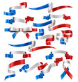 set french ribbons vector image vector image