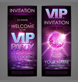 set of disco background banners vip party vector image vector image