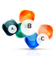 shiny abstract elements vector image vector image