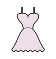 short flared dress with cleavage and straps icon vector image