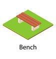 small bench icon isometric style vector image
