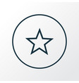 star icon line symbol premium quality isolated vector image vector image