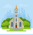 the exterior of a modern church small church vector image