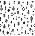 tribal seamless pattern with sketch elements vector image vector image