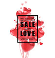 valentines day advertising sale black vector image
