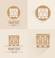 Vintage building for logo or symbol vector image vector image