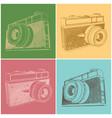 vintage film camera vector image
