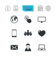 Web mobile devices icons Share mail signs