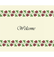 Welcome design background with traditional grapes vector image
