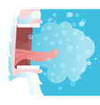 Yells Winter Santa Claus cry Snowflakes and steam vector image vector image