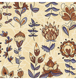 Ornamental floral color pattern vector image