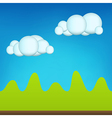 Green Cartoon Landscape vector image