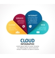 cloud service infographic Template for vector image