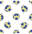 Seamless pattern with handball balls vector image