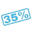 35 Percent Rubber Stamp vector image vector image