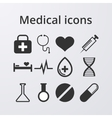 a set medical icons vector image