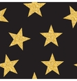 Abstract Golden Star Seamless Pattern Background vector image vector image