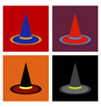 assembly flat icons halloween witch hat vector image vector image