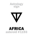 astrology asteroid africa vector image vector image