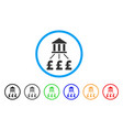 bank pound payments rounded icon vector image vector image