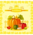 beautiful autumn still life vector image vector image