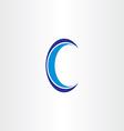 blue letter c icon design vector image