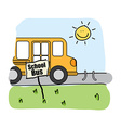 bus school design vector image