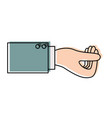 business hand side view gesture get in watercolor vector image vector image