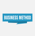 business method vector image vector image
