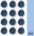 calendar 2016 blue vector image vector image