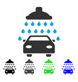car shower flat icon vector image vector image