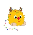 cartoon character tongue garland white background vector image