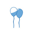 Cartoon two balloons party celebration decoration