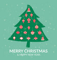 chistmas tree decoration greeting card vector image vector image